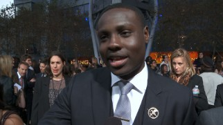 Dayo Okeniyi (Thresh) is excited to attend the only Hunger Games premiere to which he'll be invited.