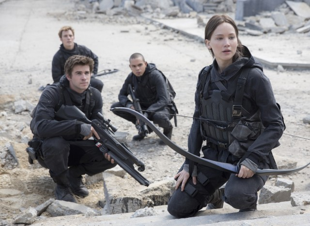"Katniss Everdeen (Jennifer Lawrence) leads a mission to assassinate President Snow in franchise finale ""The Hunger Games: Mockingjay, Part 2."""