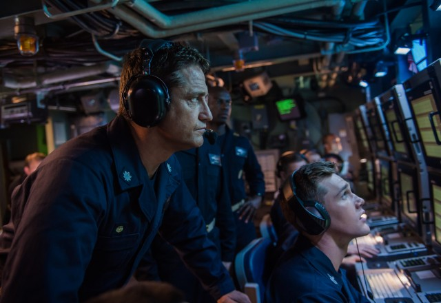 Gerard Butler plays Commander Joe Glass, who is assigned to captain the USS Arkansas, the submarine that represents America's best hope of preventing World War III.