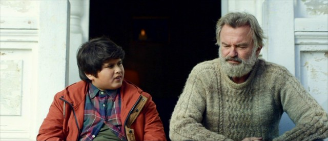 "Ricky (Julian Dennison) and Hec (Sam Neill) exchange feelings and haikus in the heartfelt ending of ""Hunt for the Wilderpeople."""