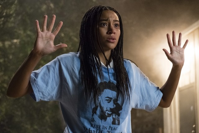"Starr Carter (Amandla Stenberg) feels a pull towards activism in the wake of her friend's death in ""The Hate U Give."""
