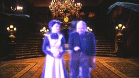 Emma and Ezra are your hosts to the Virtual Tour of the Haunted Mansion