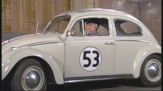 Helen Hayes goes for a drive in Herbie