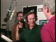 "James Woods and filmmakers in ""The Making of Hercules"""