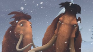 Ellie and Manny brave the windy snow to rescue their young daughter.