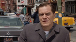 "Without his period facial hair, Michael Shannon speaks as his normal, completely reassuring self in his interview from ""The Making of 'The Iceman.'"""