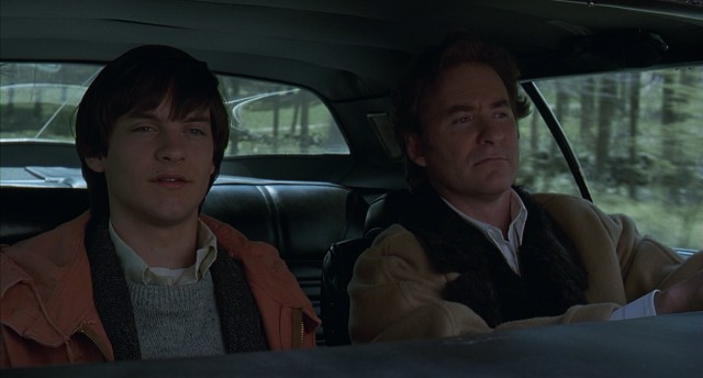 "In ""The Ice Storm"", Paul (Tobey Maguire) and Ben (Kevin Kline) have an awkward father-son talk en route to their New Canaan, Connecticut home for 1973's Thanksgiving weekend."