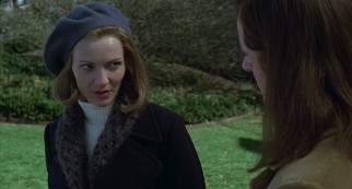 Elena (Joan Allen) doesn't know exactly how to take the apparent advances of a long-haired minister.