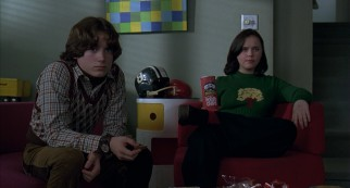 The relationship of Mikey (Elijah Wood) and Wendy (Christina Ricci) is defined by the type of awkwardness which fills this frame.
