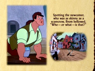 This Legend of Sleepy Hollow virtual storybook still accompanies The Adventures of Ichabod & Mr. Toad, but only on DVD.