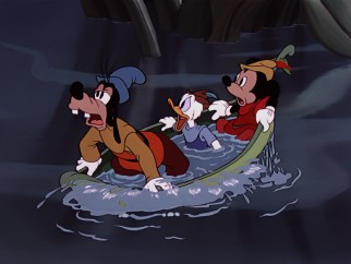 Broke and hungry Goofy, Donald, and Mickey find themselves in the middle of a giant beanstalk.