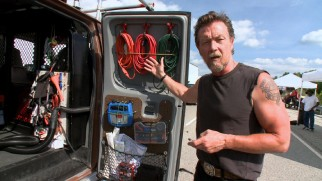 "The Skiptracer's Van Tour has Robert Patrick show us around the vehicle he dubs ""The Rolling Turd."""