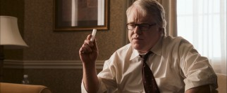 Loyal campaign manager Paul Zara (Philip Seymour Hoffman) teaches his favorite deputy a lesson or two.