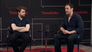 Two Daniels -- actor Radcliffe and writer-director Ragussis -- speak at length in a one-hour TimesTalk interview panel.
