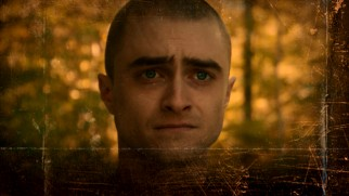 Daniel Radcliffe makes a troubled look on the Imperium Blu-ray menu.