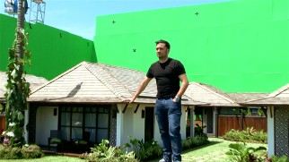 "J.A. Bayona is a giant among Spanish filmmakers, at least he seems like one on the one-third scale model Thai resort set seen in ""Realizing 'The Impossible.'"""