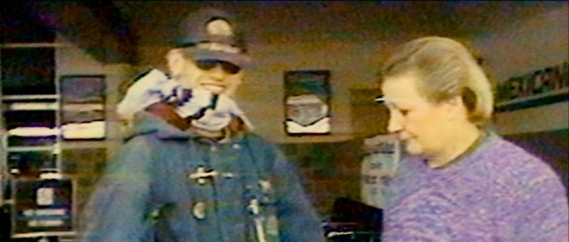 This breathtaking footage shows the Beverly Dollarhide, the mother of missing boy Nicholas Barclay welcoming home her son -- really Frederic Bourdin, hiding behind sunglasses, a hat, and a scarf -- at the airport on October 18, 1997.