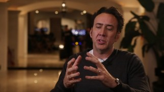 """Should I make this movie?"", Nic Cage consults his invisible 8-ball in his extended interview. The answer, as always, is yes."