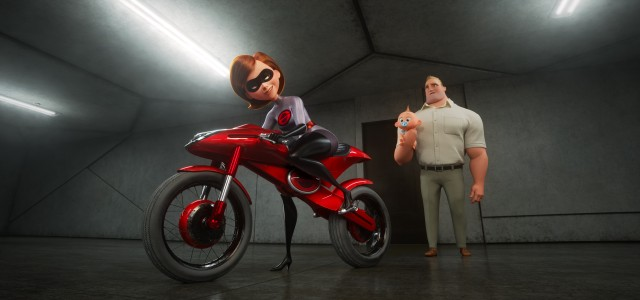 "Elastgirl gets a chance to be a solo hero again, complete with an Elasticycle in Disney/Pixar's ""Incredibles 2.quot;"
