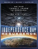 Independence Day: Resurgence (Blu-ray 3D + Blu-ray + DVD + Digital HD) - October 18