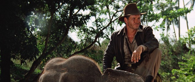 "No big deal: Indy (Harrison Ford) nonchalantly rides an elephant in ""Indiana Jones and the Temple of Doom."""