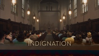 One of the mandatory chapel sessions that Marcus objects to features in the Indignation Blu-ray menu montage.