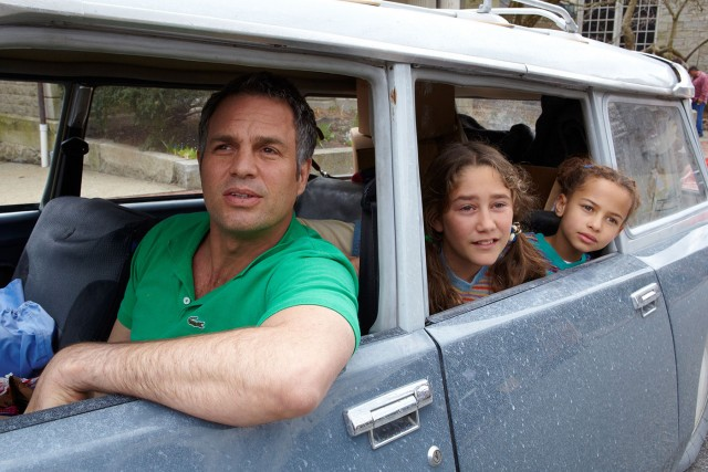 """Infinitely Polar Bear"" stars Mark Ruffalo as a bipolar father single-handedly raising two daughters (Imogene Wolodarsky and Ashley Aufderheide) in Boston while their mother attends business school in New York."