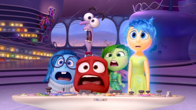 "In Disney/Pixar's ""Inside Out"", five emotions -- Sadness, Fear, Anger, Disgust, and Joy -- man the controls of a young girl named Riley."
