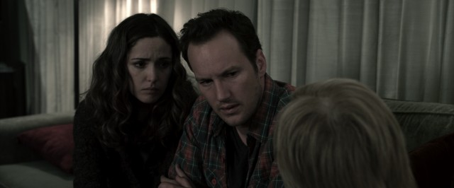 Renai (Rose Byrne) and Josh (Patrick Wilson) are surprised by what their psychic family friend has to tell them.