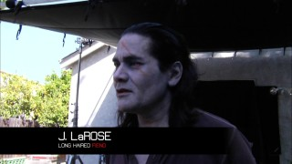 "News shows ought to consider using captions like ""Long Haired Fiend."" It succinctly identifies actor J. LaRose in ""Insidious Entities."""