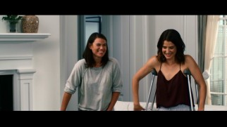 Cobie Smulders shares a laugh with co-star/writer/director Clea DuVall in The Intervention's blooper reel.
