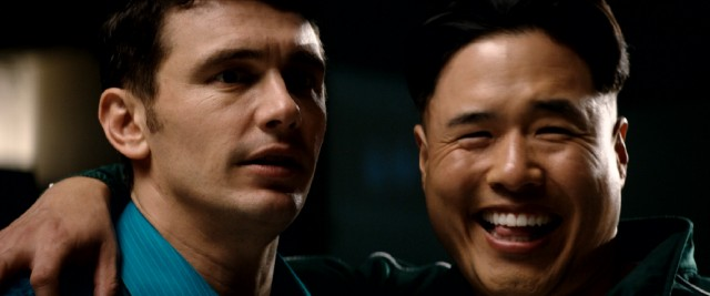 "Dave Skylark (James Franco) and President Kim (Randall Park) spark an unlikely friendship in ""The Interview."""