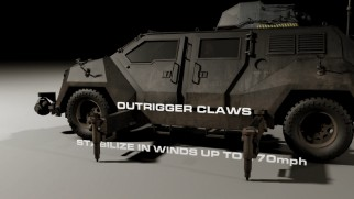 Titus the Ultimate Storm Chasing Vehicle is celebrated for its theoretical design features.