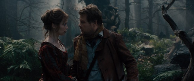 "The quest of a baker (James Corden) and his wife (Emily Blunt) to break a curse and have a child drives the tangled plot of ""Into the Woods."""