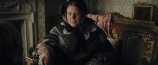 As if to elicit viewer sympathy, Dickens' wife (Joanna Scanlan) is overweight, unattractive, and emotionally distant.