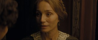 Nelly's mother (Kristin Scott Thomas) sees some value to her daughter's affair with Dickens.