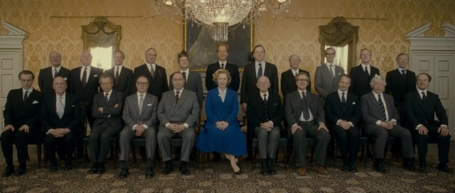 Margaret Thatcher stands out in more than one way in this photo of British government.