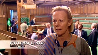 "Director Phyllida Lloyd discusses filming ""Battle in the House of Commons."""
