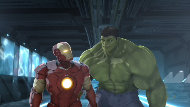 "Though they don't get along at first, Iron Man and Hulk come to unite as advertised in ""Iron Man & Hulk: Heroes United."""