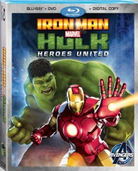 Iron Man & Hulk: Heroes United Blu-ray + DVD + Digital Copy cover art -- click to buy from Amazon.com