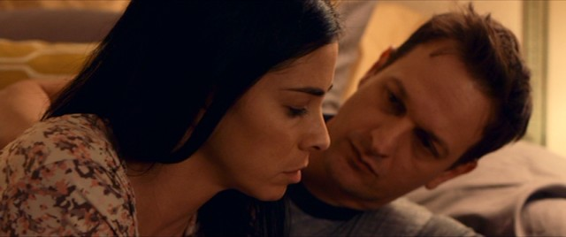 "Depressed housewife Laney Brooks (Sarah Silverman) does much to concern her husband Bruce (Josh Charles) in ""I Smile Back."""