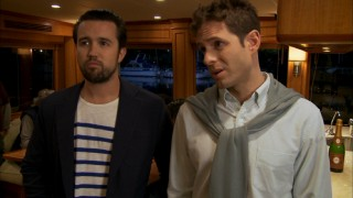 The path to the high life of boating takes an unexpected turn for Mac (Rob McElhenney) and Dennis (Glenn Howerton) at a party short on tasty treats.