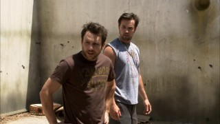 "Charlie and Mac get stuck at the bottom of the long-abandoned pool they wish to restore in ""Mac and Charlie: White Trash."""