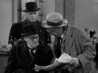 This seemingly casual exchange between wicked banker Mr. Henry F. Potter (Lionel Barrymore) and absent-minded Uncle Billy Bailey (Thomas Mitchell) impacts the remainder of the film.