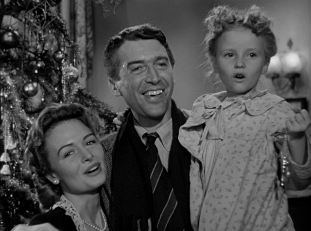 "In the uplifting conclusion of ""It's a Wonderful Life"", the people of Bedford Falls rally in support of their friend, making George Bailey ""the richest man in town."""