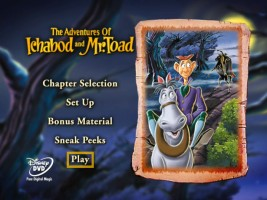 The Adventures of Ichabod and Mr. Toad DVD Menu