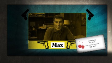 Max Cherry makes an appearance along with his fruity business card in the Blu-ray's stylish menu montage.