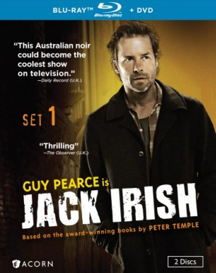 Jack Irish: Blu-ray + DVD combo pack cover art -- click to buy from Amazon.com