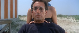 Amity's new police chief Martin Brody (Roy Scheider) reacts to a shark attack in one of cinema's most famous dolly zooms.