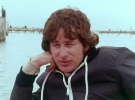 "A young Steven Spielberg shares his filmmaking views from a boat in the 1974 production report ""From the Set."""